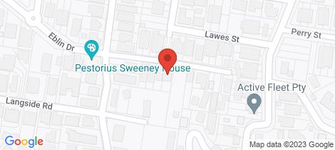 Location map for 17 Ludlow Street Hamilton