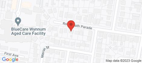 Location map for 74 Roseneath Parade Wynnum West
