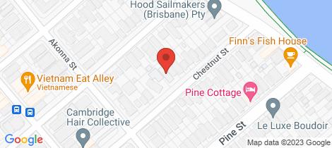 Location map for 25 Chestnut Street Wynnum