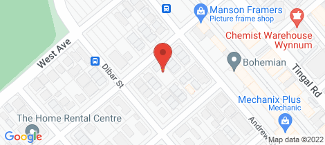Location map for 2/22 Ronald Street Wynnum