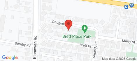 Location map for 2 Douglas Close Wynnum West