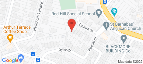 Location map for 43 Lintern Street Red Hill