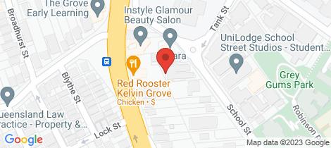 Location map for 8/42 School Street Kelvin Grove