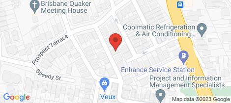 Location map for 14 Rusden Street Kelvin Grove