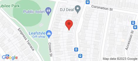 Location map for 78 Lewin Street Bardon