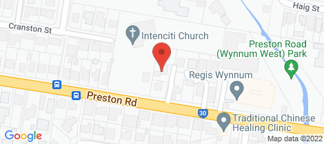 Location map for 277A Preston Road Wynnum West