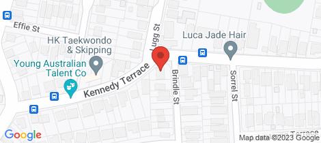 Location map for 180 Kennedy Terrace Paddington