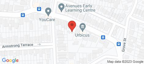 Location map for 118 Kennedy Terrace Paddington