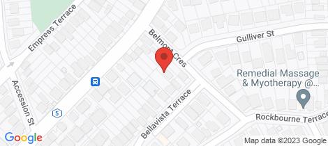 Location map for 3A Bellavista Terrace Paddington