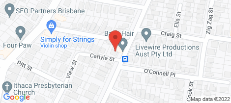 Location map for 76 Cochrane Street Red Hill