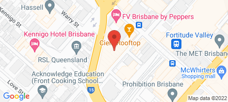 Location map for 2907/179 Alfred Street Fortitude Valley