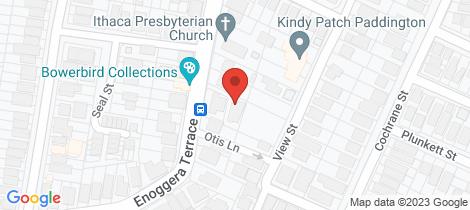 Location map for 112 Enoggera Terrace Paddington