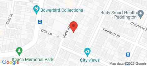 Location map for 40 View Street Paddington