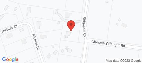 Location map for 117 Glencoe Yalangur Road Glencoe