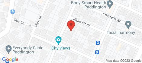 Location map for 33 Cochrane Street Paddington