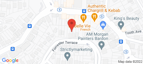 Location map for 63 Forrester Terrace Bardon