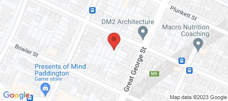 Location map for 82 Charlotte Street Paddington