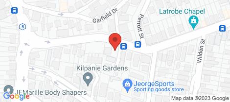 Location map for 1/240 Latrobe Tce Paddington