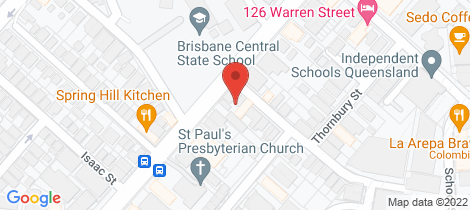 Location map for 83 St Pauls Tce Spring Hill