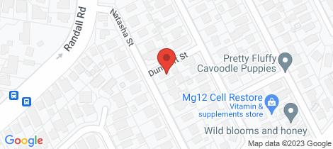 Location map for 20 Natasha Street Wynnum West