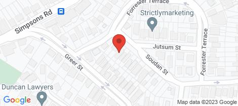 Location map for 50a Soudan Street Bardon