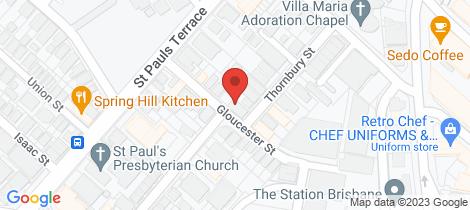 Location map for 2 Thornbury Street Spring Hill