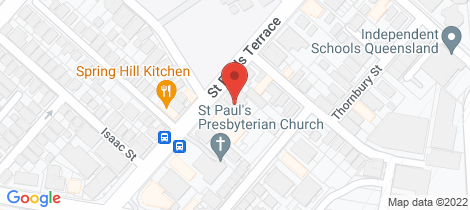 Location map for 71 St Pauls Tce Spring Hill