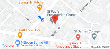 Location map for 53 St Pauls Tce Spring Hill