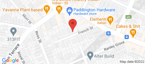 Location map for 5 French Street Paddington