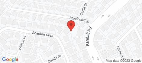 Location map for 21 Scanlen Crescent Wynnum West