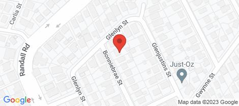 Location map for 8 Glenlyn Street Wynnum West