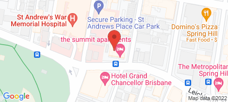 Location map for 804/32 Leichhardt Street Spring Hill