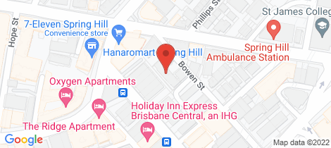 Location map for 31/128 Bowen Street Spring Hill
