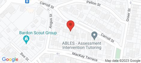 Location map for 36 Carroll Street Bardon