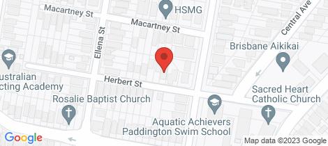 Location map for 33 Herbert Street Paddington
