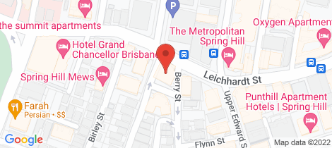 Location map for 20/83 Leichhardt Street Spring Hill