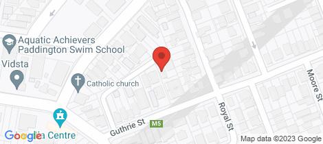 Location map for 9/81 Guthrie Street Paddington