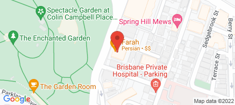 Location map for 503/391 Wickham Tce Spring Hill