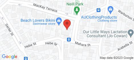 Location map for 34 Mahara Street Bardon