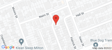Location map for 21 Sackville Street Milton