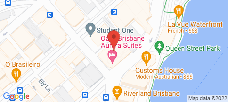 Location map for 115/420 Queen Street Brisbane City