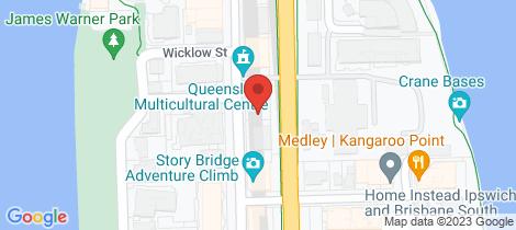 Location map for 10/110 Main Street Kangaroo Point