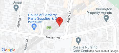 Location map for 6A Agars Street Paddington