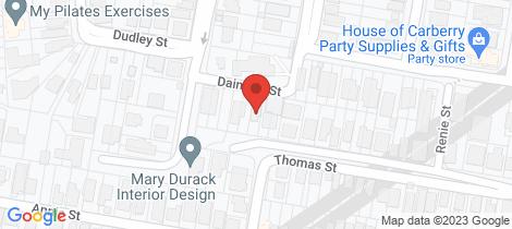 Location map for 14 Daintree Street Paddington