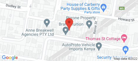 Location map for 77 Thomas Street Auchenflower