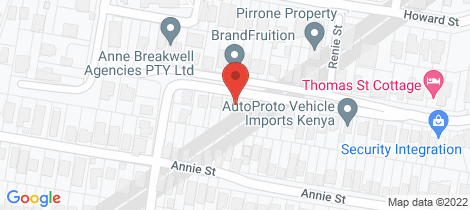 Location map for 78 Thomas Street Auchenflower