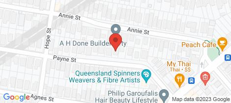 Location map for 25 Payne Street Auchenflower