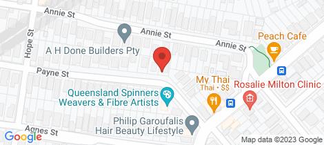 Location map for 17 Payne Street Auchenflower