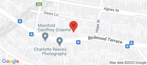 Location map for 49 Birdwood Terrace Auchenflower