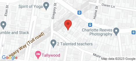 Location map for 107 Munro Street Auchenflower
